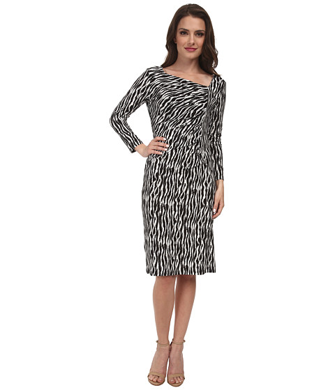 Pendleton - Petite Cynthia Dress (Black/Ivory Zebra) Women's Dress