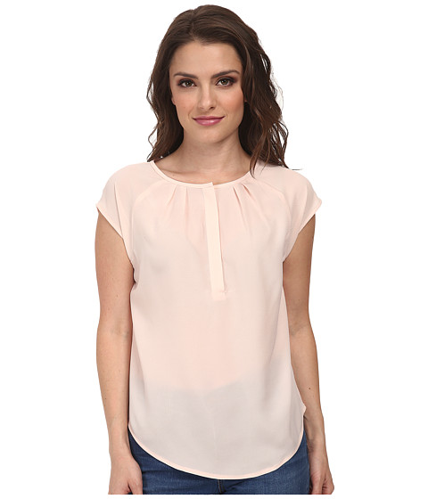 Pendleton - Petite Mixed Media Blouse (Pearl Blush) Women's Blouse