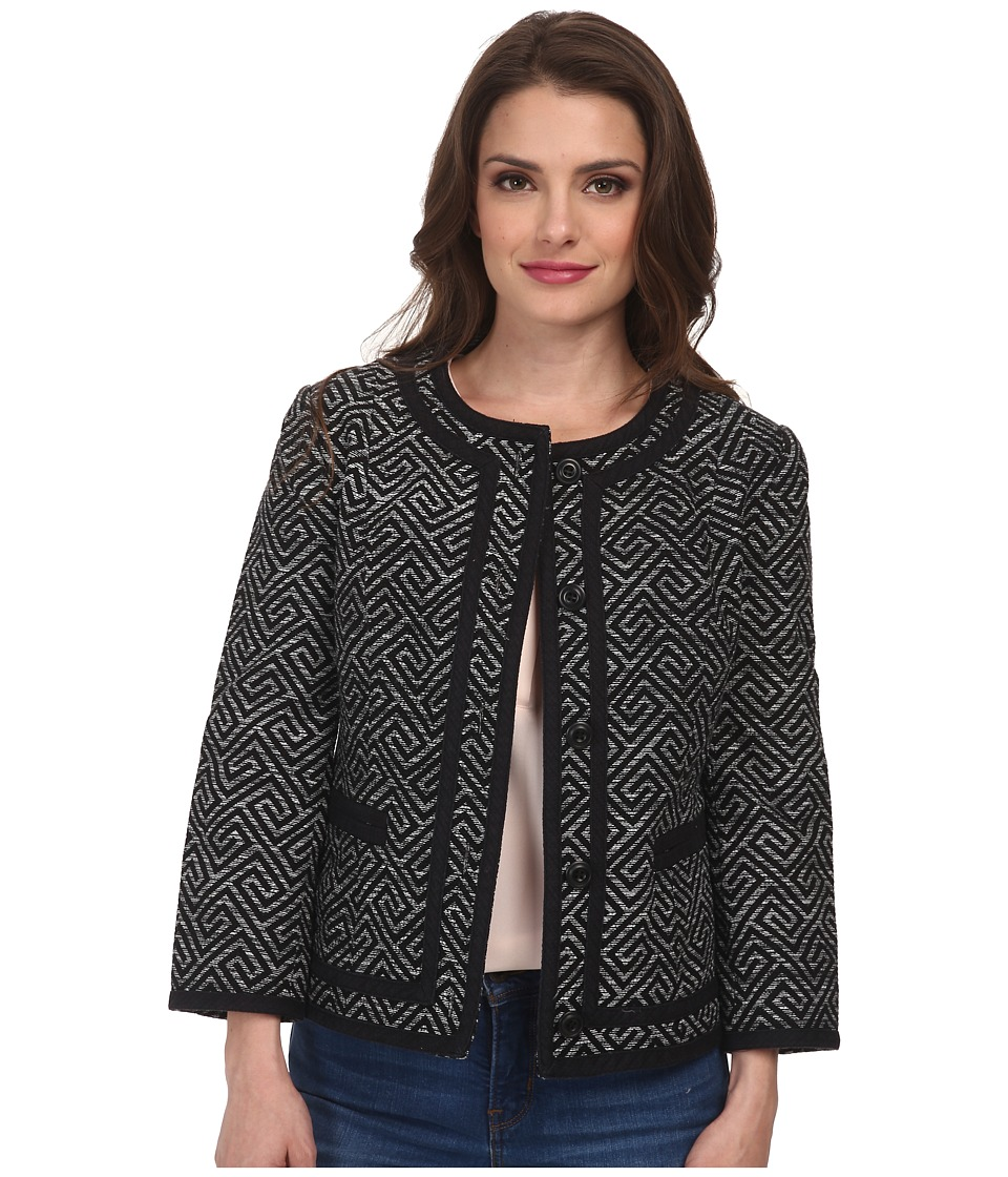 Pendleton - Petite Amanda Print Jacket (Black Key Print) Women's Jacket
