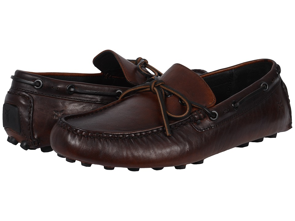 Frye - Russel Tie (Cognac Vintage Pull Up) Men's Slip on Shoes