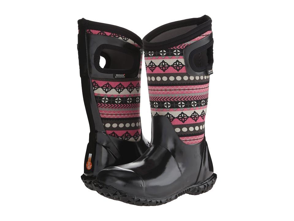 Bogs Kids - North Hampton Pattern Stripes (Toddler/Little Kid/Big Kid) (Black Multi) Girls Shoes