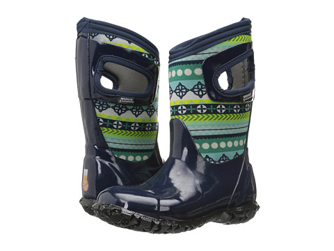 Bogs Kids - North Hampton Pattern Stripes (Toddler/Little Kid/Big Kid) (Dark Blue Multi) Girls Shoes