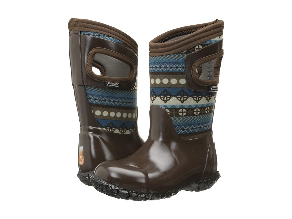 Bogs Kids - North Hampton Pattern Stripes (Toddler/Little Kid/Big Kid) (Brown Multi) Girls Shoes