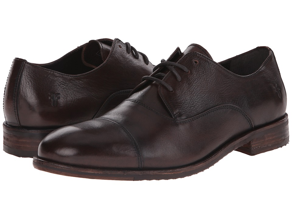 Frye Sam Oxford (Dark Brown Hand Antiqued Full Grain) Men