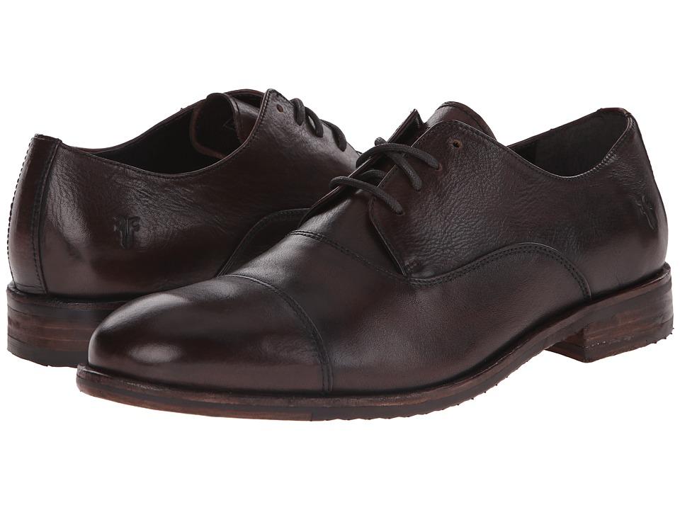 Frye - Sam Oxford (Dark Brown Hand Antiqued Full Grain) Men's Lace Up Cap Toe Shoes