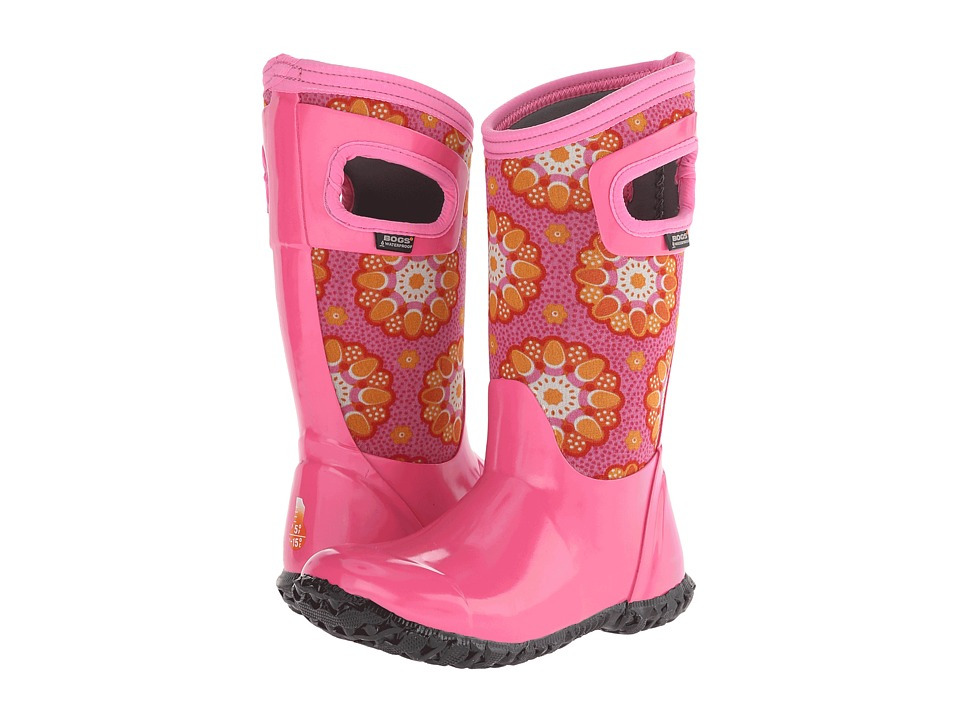 Bogs Kids - North Hampton Kaleidoscope (Toddler/Little Kid/Big Kid) (Pink Multi) Girls Shoes