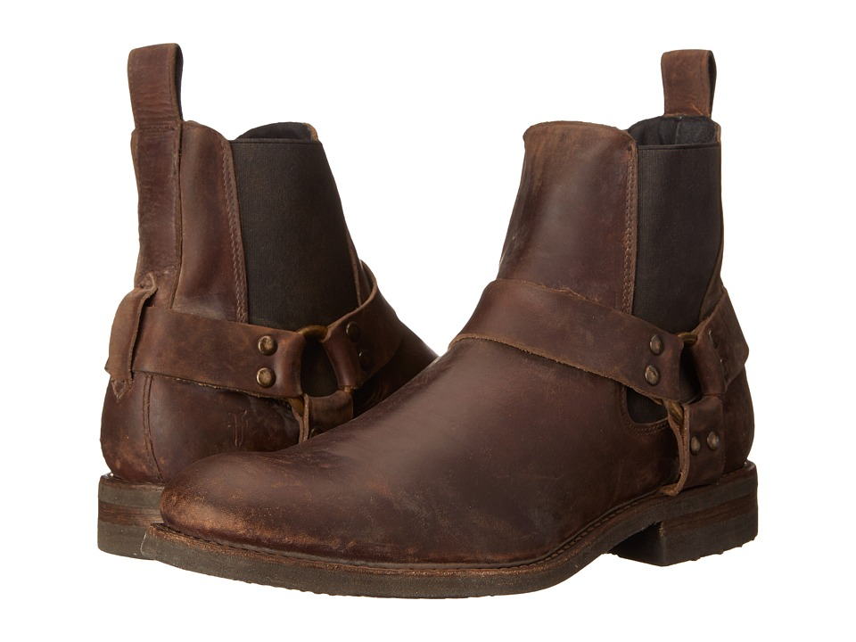 Frye - Stone Harness Chelsea (Espresso Polished Stonewash) Men's Pull-on Boots