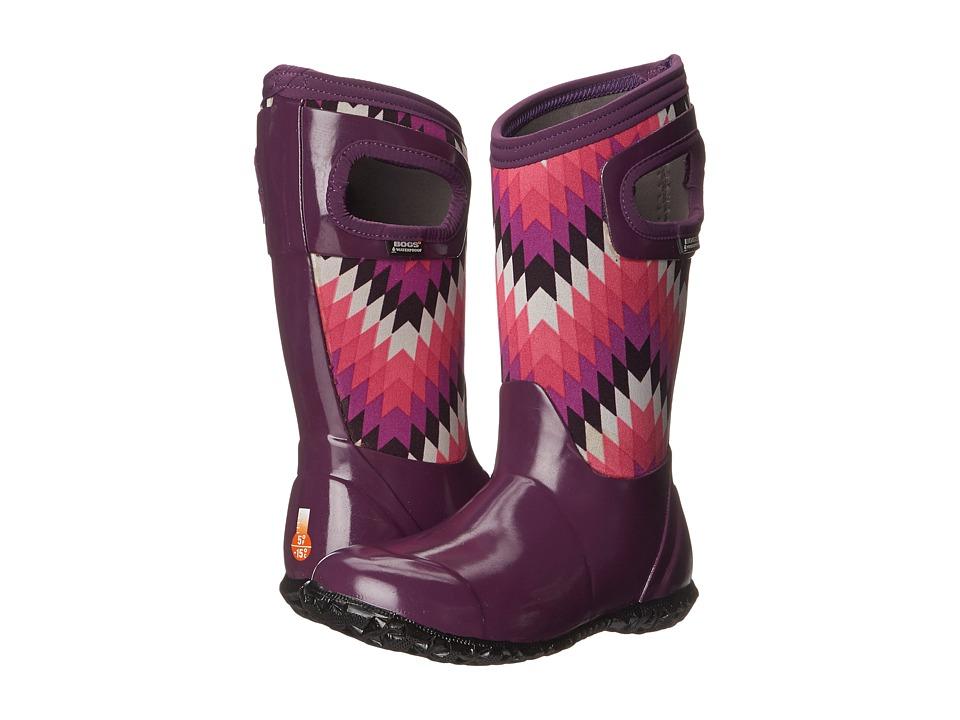 Bogs Kids - North Hampton Native (Toddler/Little Kid/Big Kid) (Purple Multi) Girls Shoes