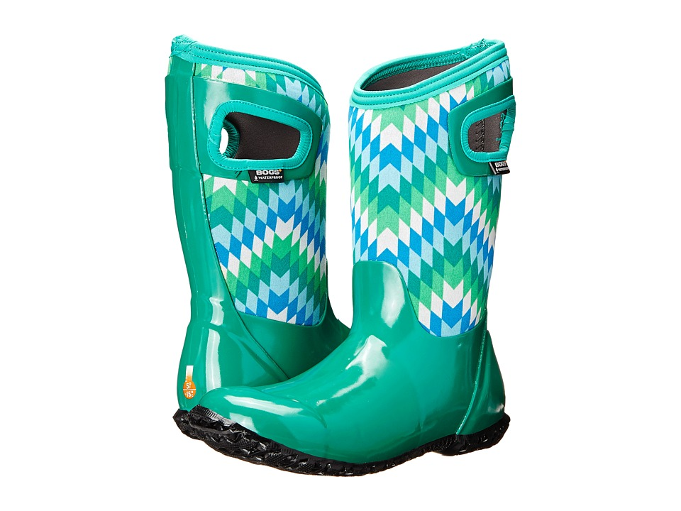 Bogs Kids - North Hampton Native (Toddler/Little Kid/Big Kid) (Emerald Multi) Girls Shoes