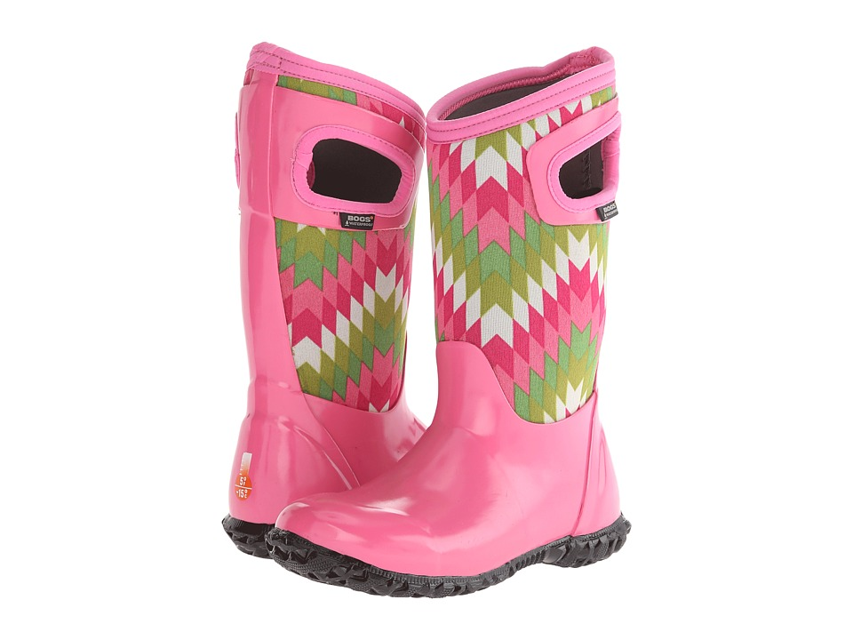 Bogs Kids - North Hampton Native (Toddler/Little Kid/Big Kid) (Pink Multi) Girls Shoes