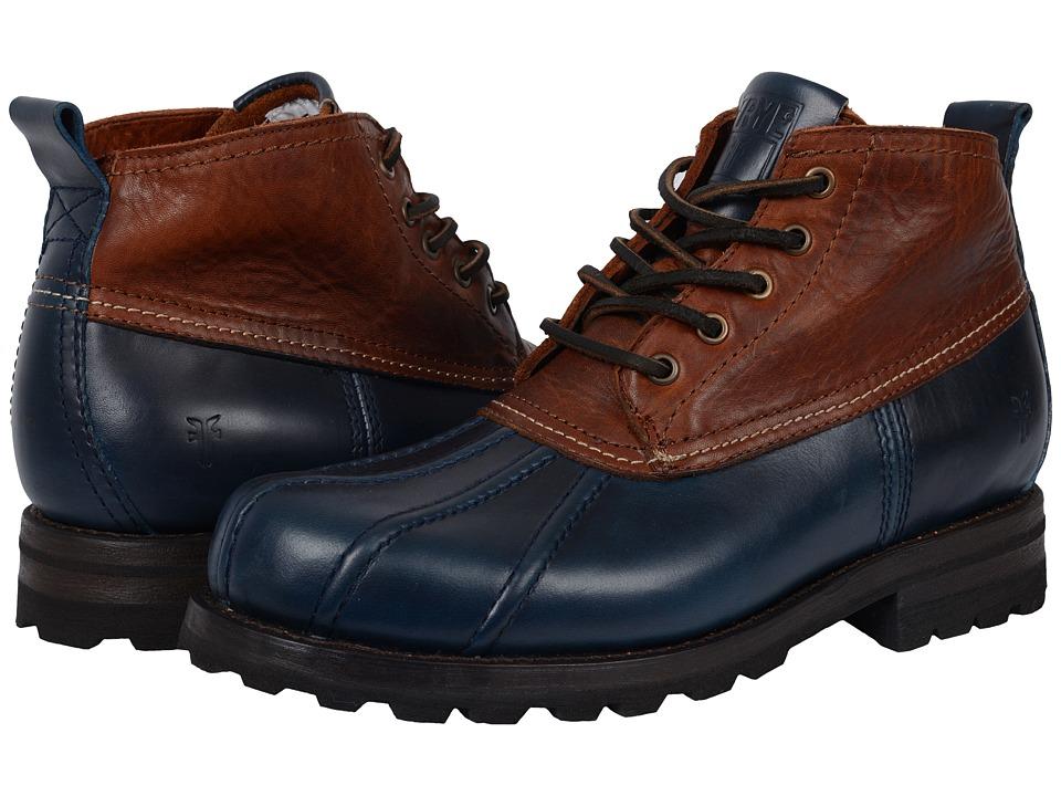 Frye Warren Duckboot (Navy Multi Smooth Full Grain/Washed Vintage Leather) Men