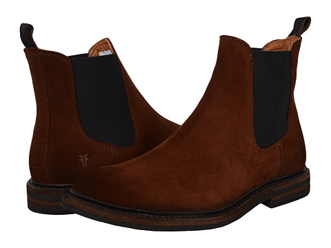 Frye - William Chelsea (Brown Oiled Suede (Dark Outsole)) Men