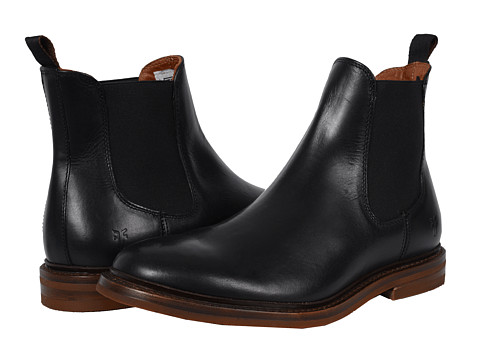 Frye - William Chelsea (Black Smooth Full Grain (Dark Outsole)) Men
