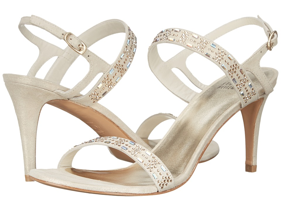 Stuart Weitzman Bridal & Evening Collection Fireplace (Pale Gold Cipria) High Heels