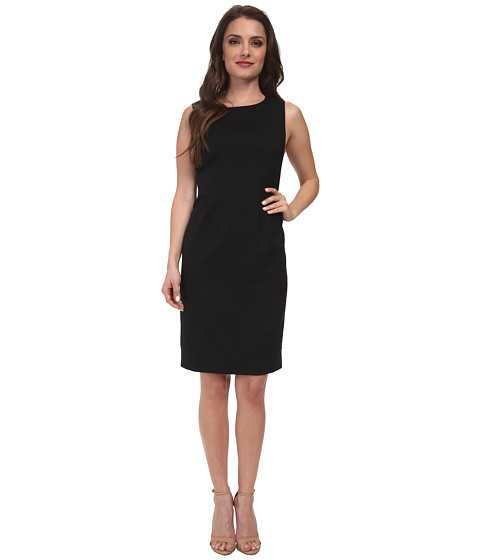 Pendleton - Petite Shaped Sheath Dress (Black Ultra 9 Stretch Worsted) Women's Dress