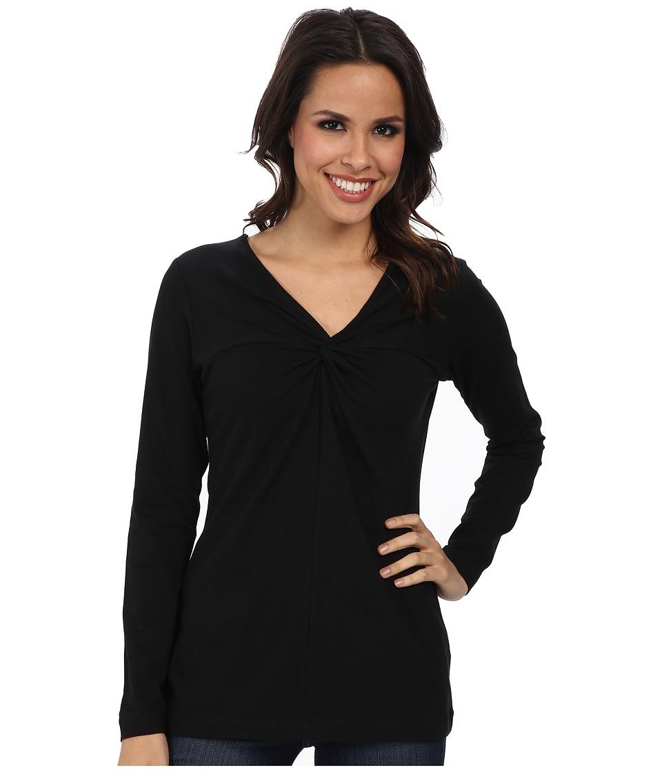 Pendleton - Twist Top Tee (Black) Women's Long Sleeve Pullover