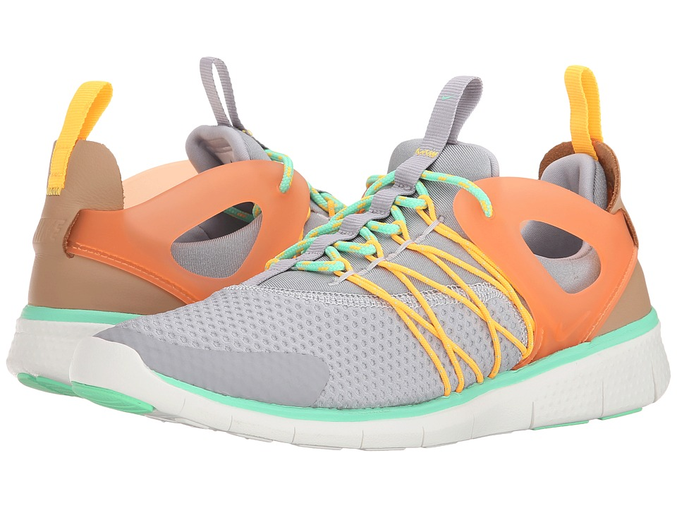 Nike - Free Viritous (Wolf GreyGreen Glow/Laser Orange/Total Orange) Women's Shoes