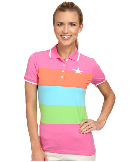 Bogner - Danca Polo Shirt (Screaming Pink/Power Orange/Turquoise Blue/Fresh Green) Women's Short Sleeve Pullover