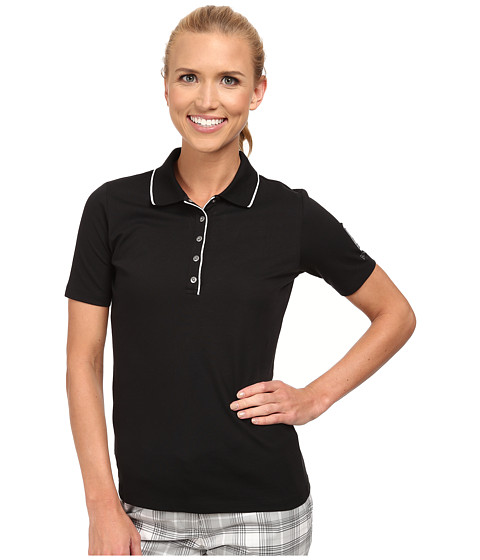 Bogner - Natty Polo Shirt (Black/White) Women's Short Sleeve Knit