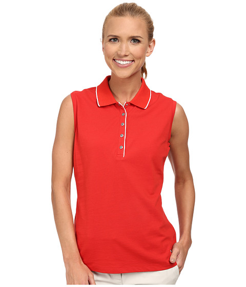 Bogner - Ivola Sleeveless Polo Shirt (Red/White) Women's Sleeveless