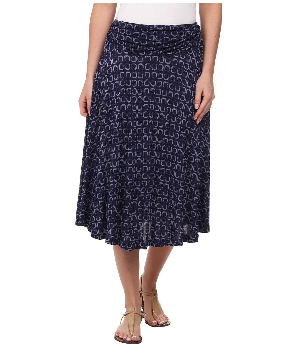 Pendleton - Orleans Knit Skirt (Midnight Navy Sqaure Print) Women