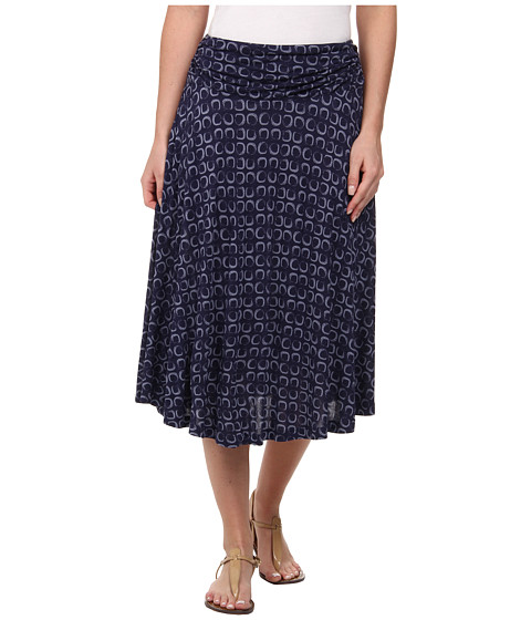 Pendleton - Orleans Knit Skirt (Midnight Navy Sqaure Print) Women's Skirt