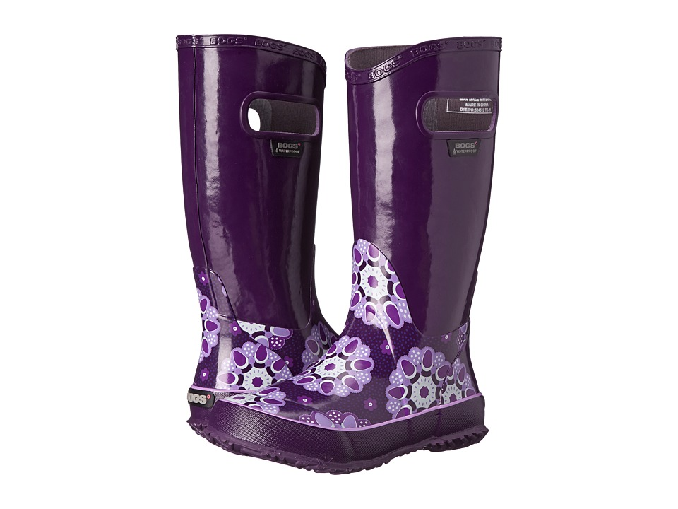 Bogs Kids - Rain Boot Kaleidoscope (Toddler/Little Kid/Big Kid) (Purple Multi) Girls Shoes