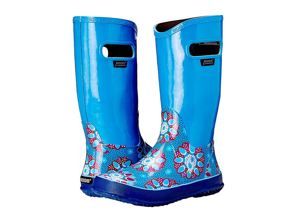Bogs Kids - Rain Boot Kaleidoscope (Toddler/Little Kid/Big Kid) (Blue Multi) Girls Shoes