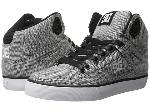 DC - Spartan High WC TX SE (Grey/Grey/Black) Men's Skate Shoes