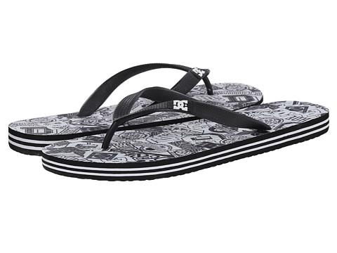 DC - Spray Graffik (Black/White Monogram) Men's Skate Shoes