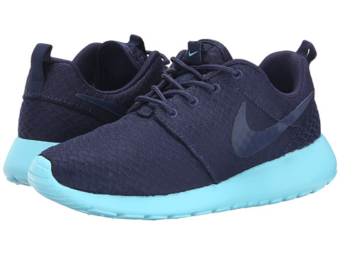 Nike - Roshe Run (Midnight Navy/Tide Pool Blue/Midnight Navy) Women