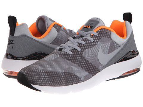 Nike - Air Max Siren Print (Black/Cool Grey/Total Orange/Wolf Grey) Men