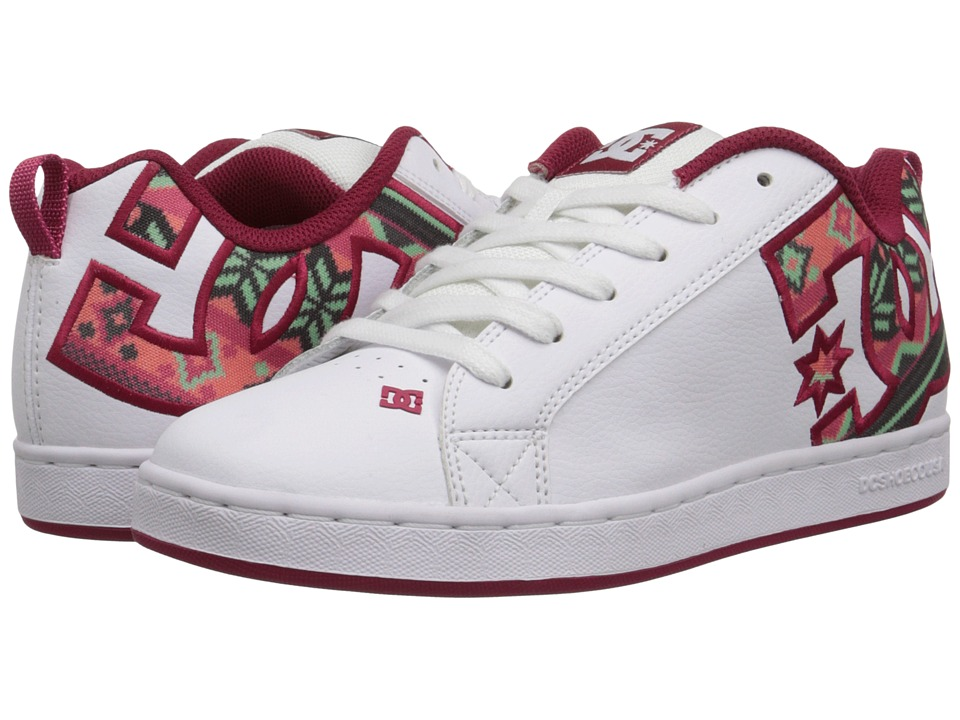 DC - Court Graffik SE W (White/Green Plaid) Women's Skate Shoes
