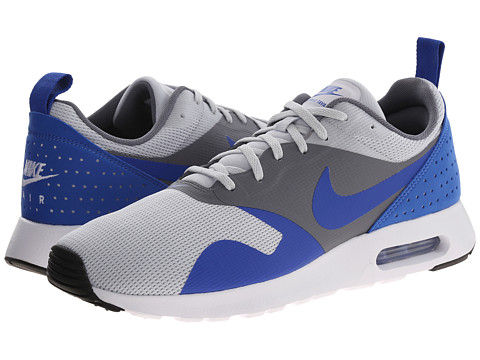 Nike - Air Max Tavas (Pure Platinum/Cool Grey/Game Royal/Game Royal) Men's Shoes