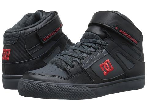 DC Kids - Spartan High SE EV (Little Kid) (Black/Athletic Red/Battleship) Boys Shoes