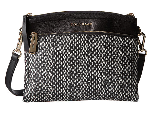 Cole Haan - Reddington Crossbody (Black/Snake Print) Cross Body Handbags