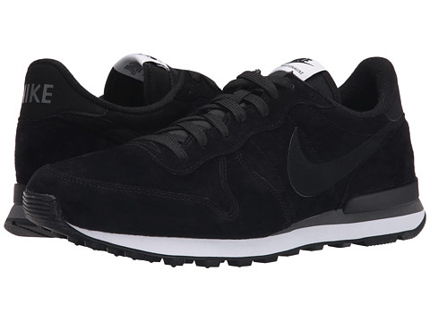 Nike - Internationalist Leather (Black/Dark Grey/White/Black) Men