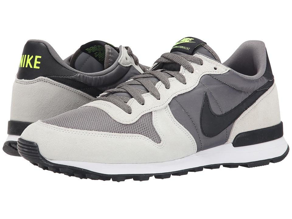 Nike - Internationalist (Dark Pewter/Strata Grey/Volt/Black) Men's Shoes