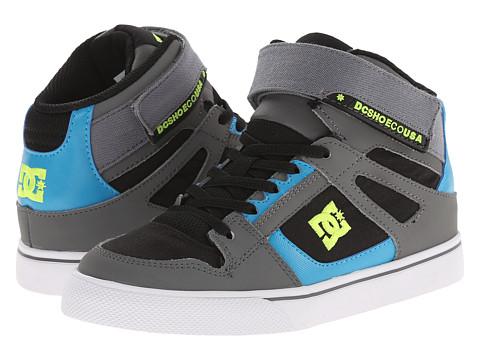 DC Kids - Spartan High EV (Little Kid) (Black/Armor/Turquoise) Boys Shoes