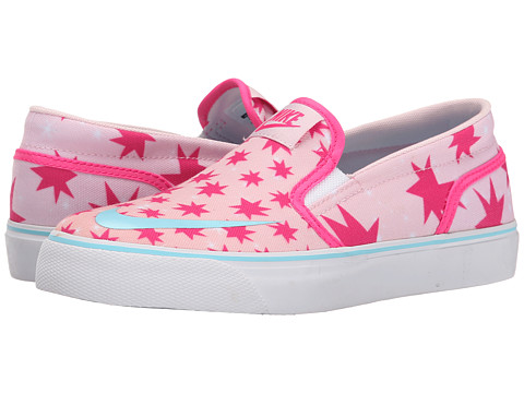 Nike SB Kids - Toki Slip-on Canvas Print (Big Kid) (Prism Pink/Pink Foil/White/Tide Pool Blue) Girl