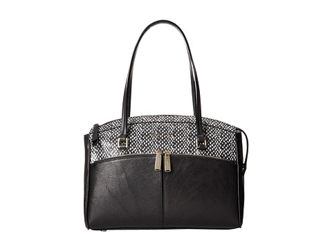 Cole Haan - Reddington Medium Satchel (Black/Snake Print) Satchel Handbags