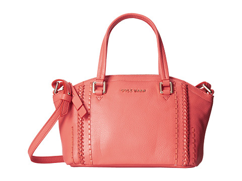 Cole Haan - Nickson Small Satchel (Coral Flame) Satchel Handbags