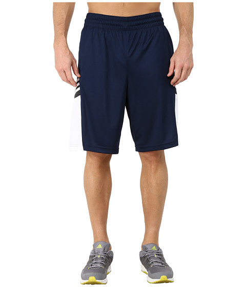 adidas - Team Speed Practice Shorts (Collegiate Navy/DGH Solid Grey/White) Men