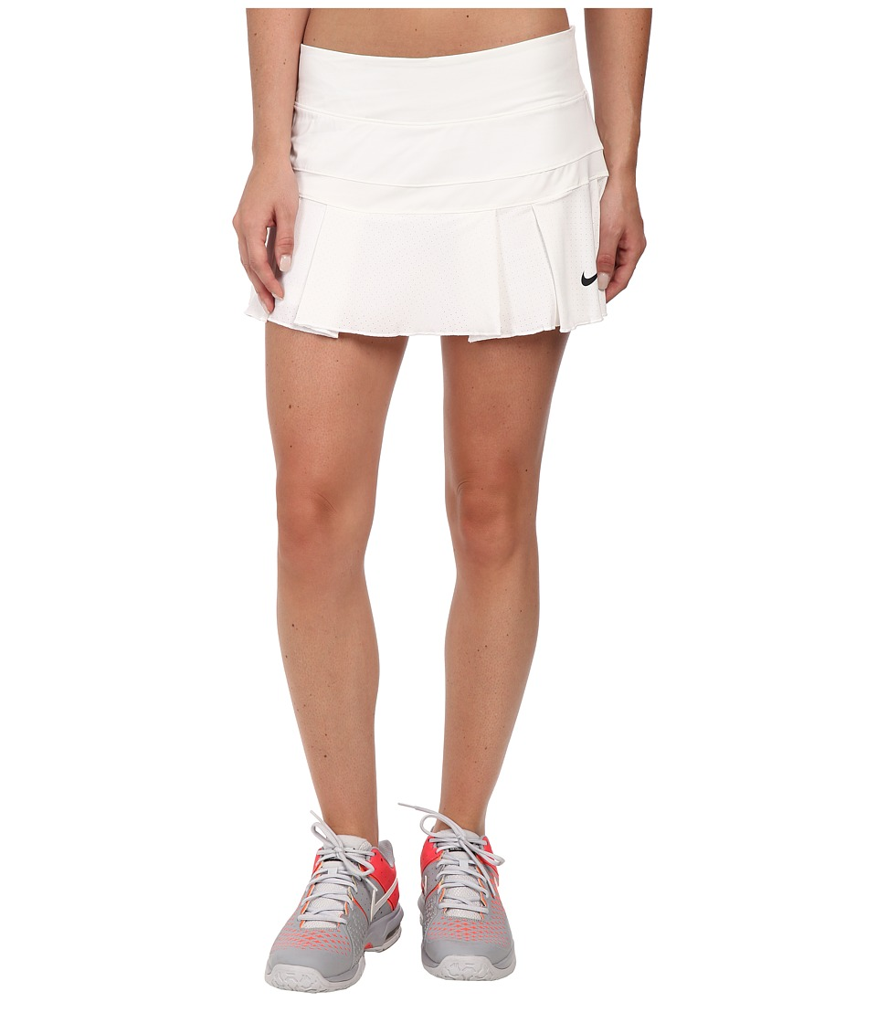 Nike - Victory Breathe Skort (White/Black) Women's Skort