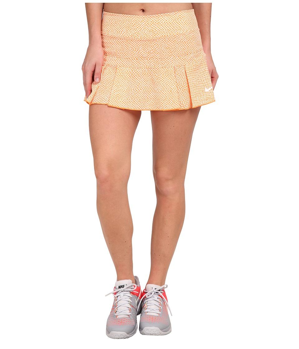 Nike - Victory Printed Skort (Bright Mandarin/Cool Grey) Women's Skort