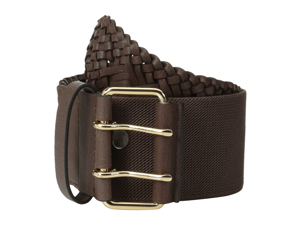 BCBGMAXAZRIA - Faux Leather Waist Belt (Dark Brown) Women's Belts
