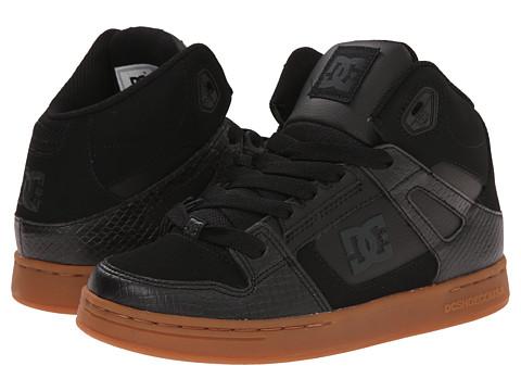 DC Kids - Rebound SE (Big Kid) (Black/Gum) Boys Shoes
