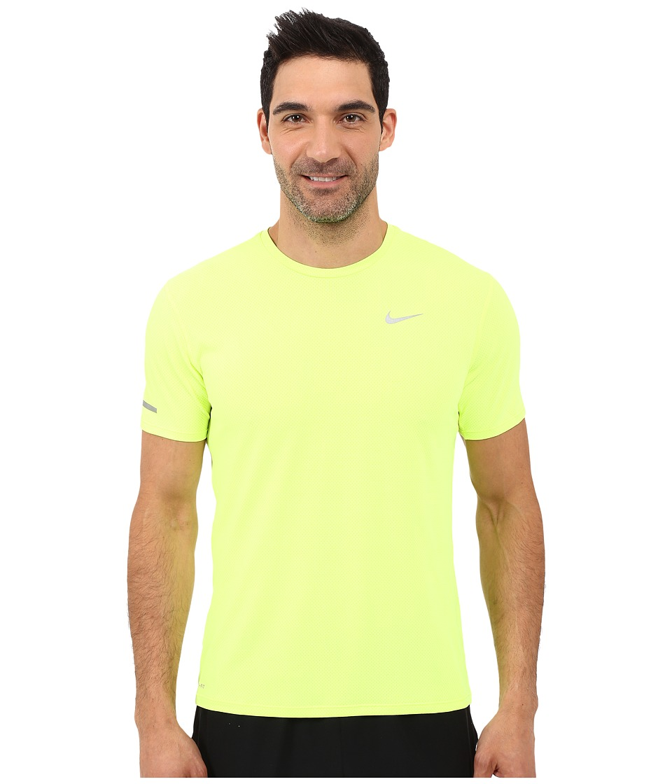Nike - Dri-FIT Contour S/S Running Shirt (Volt/Reflective Silver) Men's T Shirt
