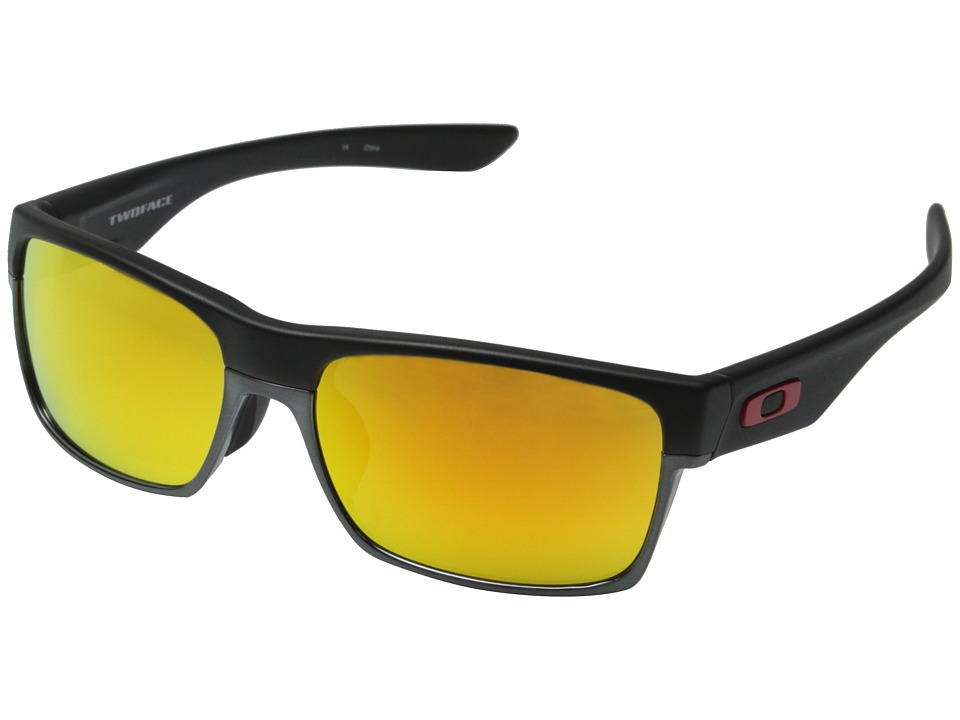 Oakley - Twoface (Asian Fit) (Matte Black w/ Fire Iridium) Sport Sunglasses