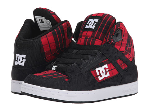 DC Kids - Rebound TX SE (Big Kid) (Black/Red Plaid) Girls Shoes